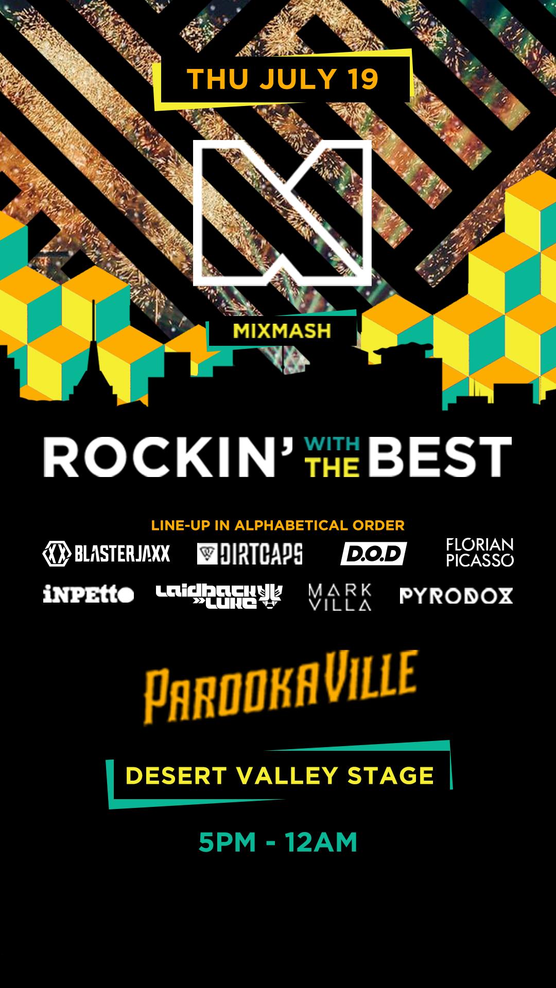 Mixmash @ Parookaville - Desert Valley Stage takeover